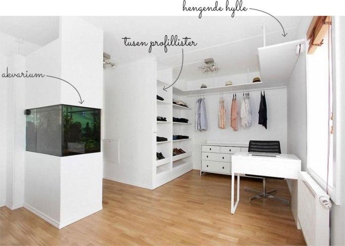 Walk-in-closet før